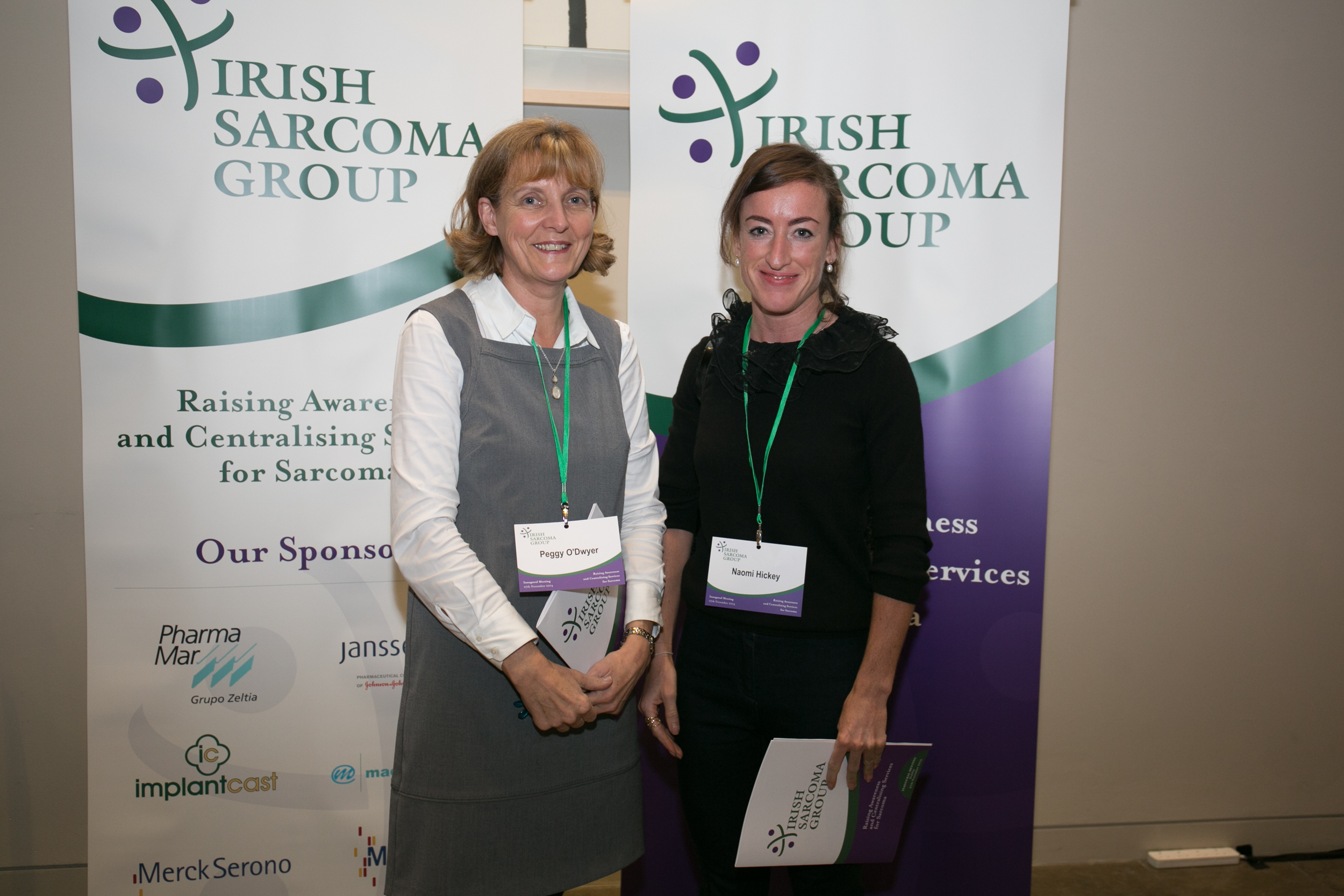 Peggy O'Dwyer, CNS, Naas General Hospital. Naomi Hickey, CNS, AMNCH