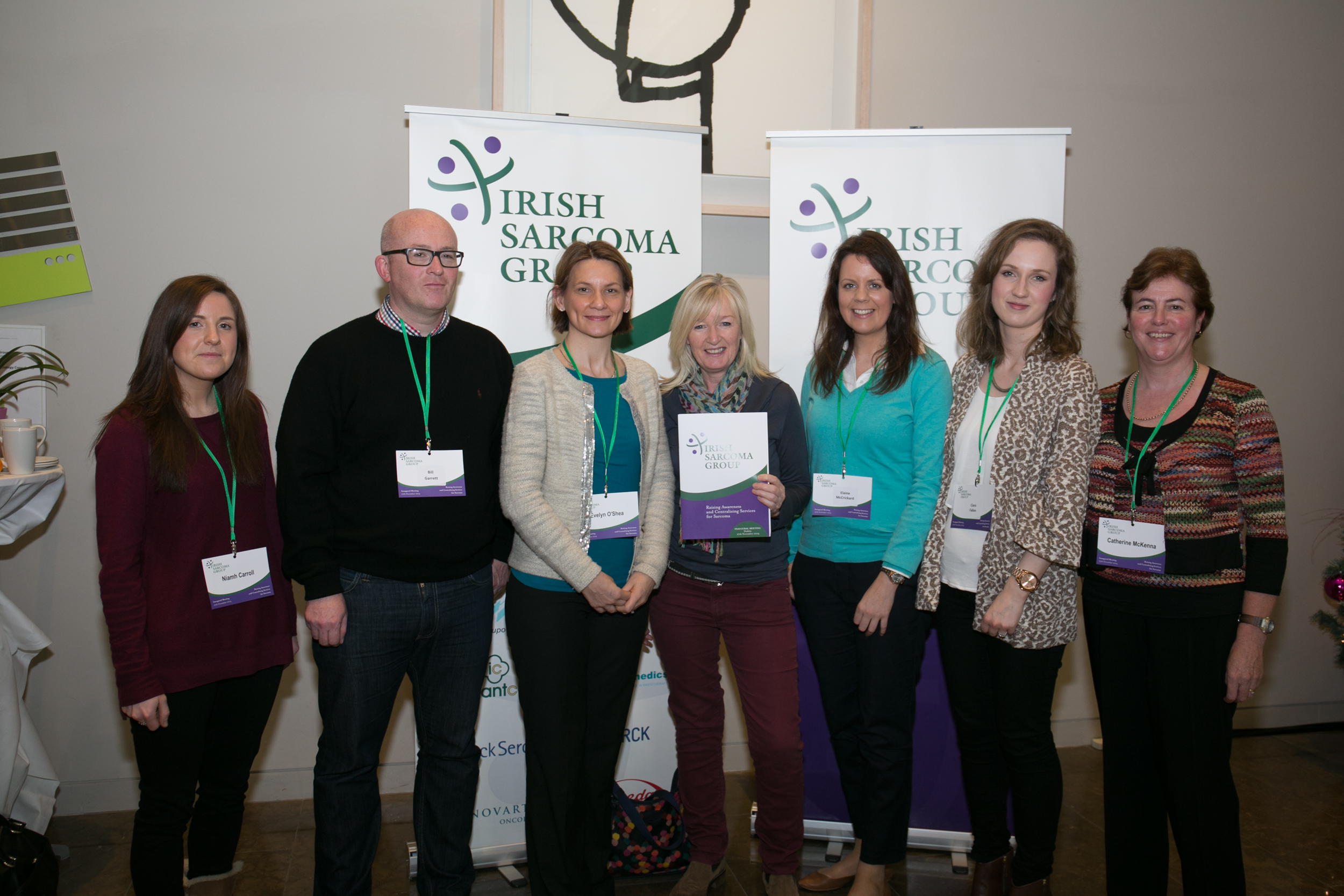 St Luke's Hospital Sarcoma Multidisciplinary Team: Niamh Carroll, Bill Garrett, Evelyn O'Shea, Siobhan Cosgrave, Elaine McCrickard, Ciara Fallon, Catherine McKenna